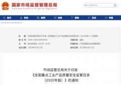 防水卷材、防水涂料被列入《全国重点工业产品质量安全监管目录(2020年版)